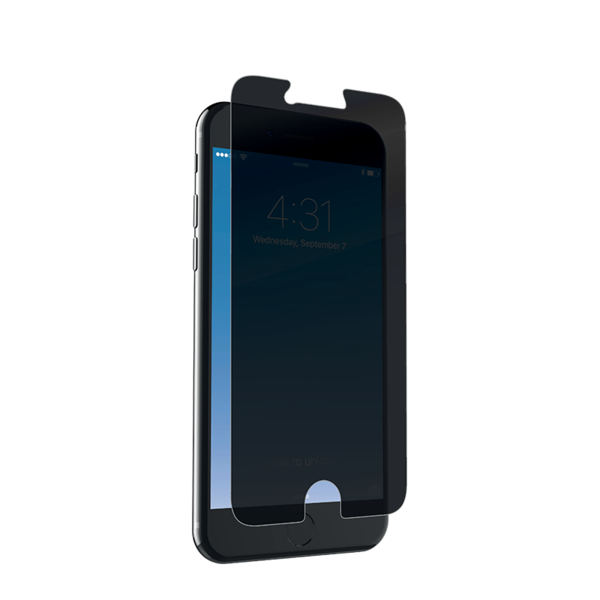 Lámina de privacidad Zagg InvisibleShield Glass+ para iPhone 8 / 7