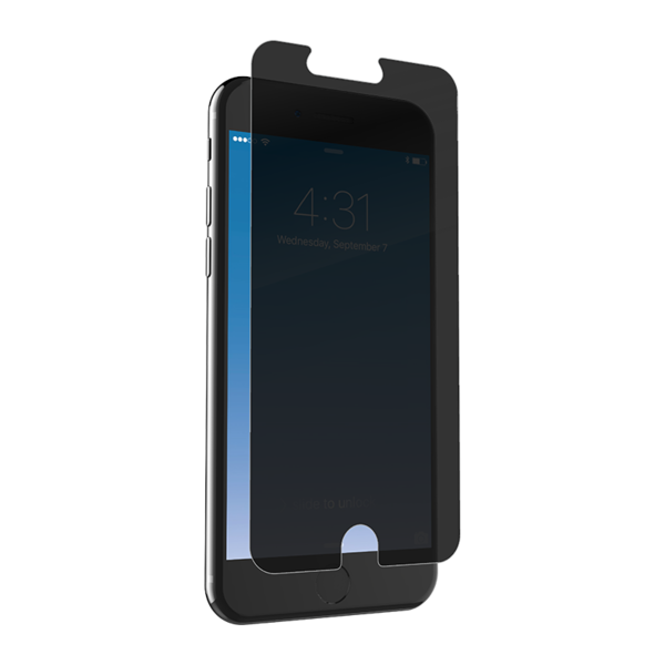 Lámina de privacidad Zagg InvisibleShield Glass+ para iPhone 8 Plus / 7 Plus