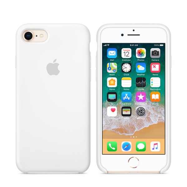 c6a391796b6 Funda de silicona Apple para iPhone 8 - El principal Apple Premium ...