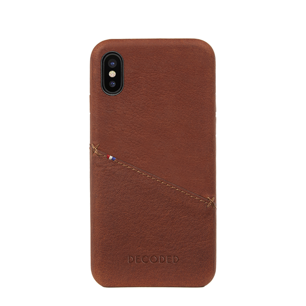 Funda de cuero Decoded Snap-On para iPhone X