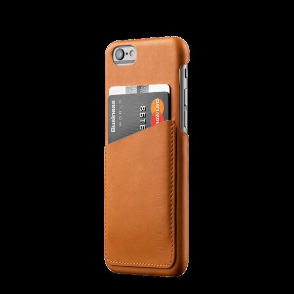 Funda de cuero Mujjo Wallet para iPhone 6 / 6s