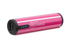 Batería externa 2.600 mAh Power Cylinder Micro USB Techlink Rosado