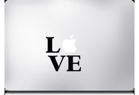 Lámina para MacBook Pro MacDecals diseño Love