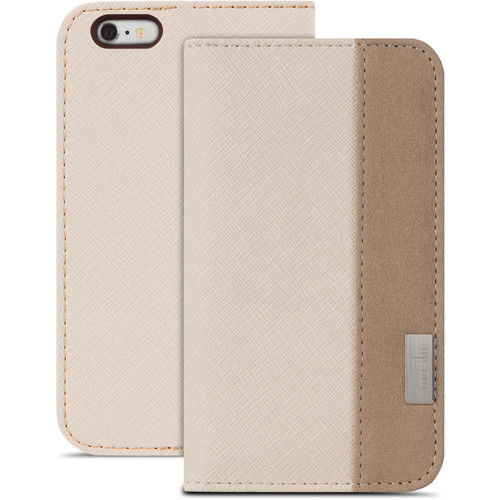 Funda folio Overture para iPhone 6 Plus/6s Plus Moshi Beige