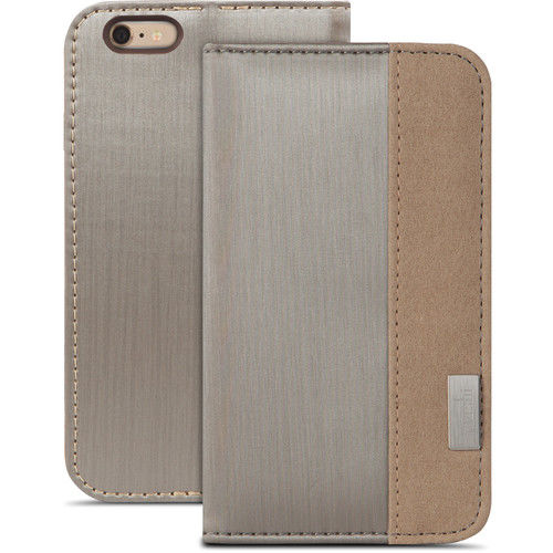 Funda folio Overture para iPhone 6 Plus/6s Plus Moshi Plateado