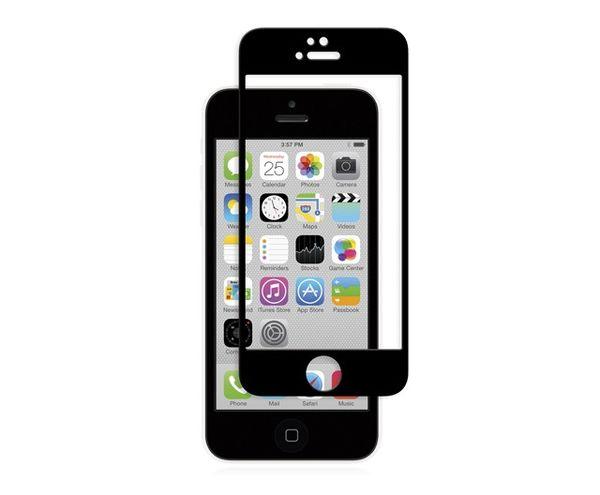 Lámina protectora para iPhone 5/5s/5c/SE iVisor Glass Moshi Negra