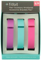 Bandas de color para Fitbit Flex 3 unidades pequeña Violeta/Verde azulado/Rosado