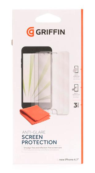Lámina protectora para iPhone 6 Antiglare Griffin (3 Pack)