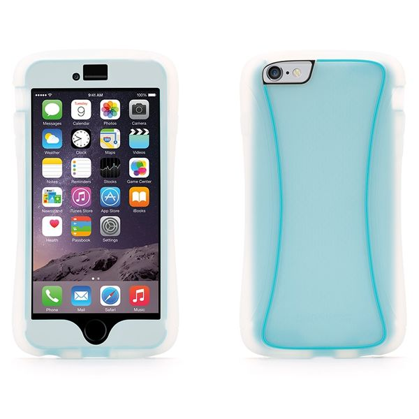 Funda todoterreno Survivor Slim para iPhone 6 Plus Clear / Azul