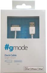Cable 30 Pines a USB MFI gMode Blanco