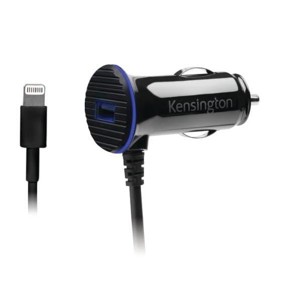 Cargador 12 V 3.4 Amp carga rápida c/cable ligtning USB Kensington Negro