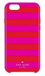 Funda Dura híbrida para iPhone 6 Kate Spade Candy Stripe Red/ Pink