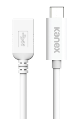 Cable USB-C 3.0 male to female 20 cm Kanex