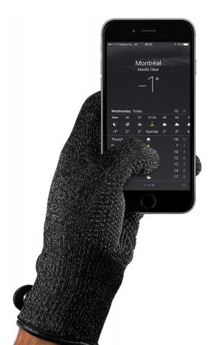 Guantes para pantallas touch Mujjo Negro (Talla L)
