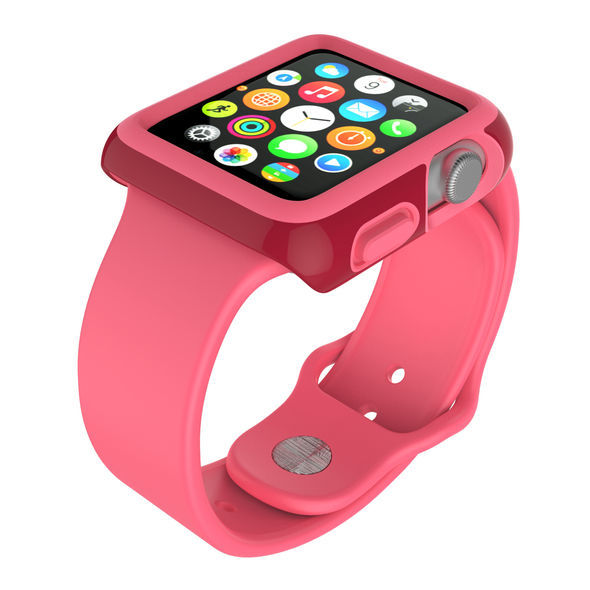 Protector para Apple Watch 42mm CandyShell Speck Red/Splash Pink