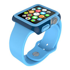 Protector para Apple Watch 38mm CandyShell Speck SeaBlue/ Maya Blue