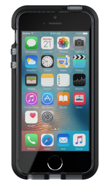 Funda dura para iPhone 5/5s/SE Evo Mesh Tech21 Transparente/ Negro
