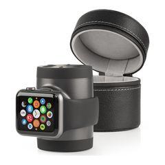 Batería con base Recharge para Apple Watch Negro/Gris Techlink