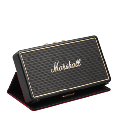 Parlante portátil Bluetooth Stockwell con funda Marshall Negro
