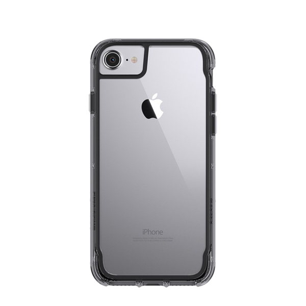 Funda dura Survivor Clear para iPhone 7 / 8 Griffin Gris Humo