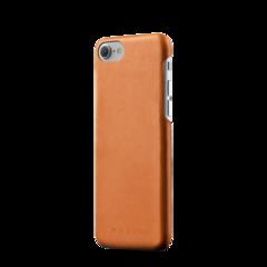 Funda de cuero para iPhone 7 Mujjo Castaño