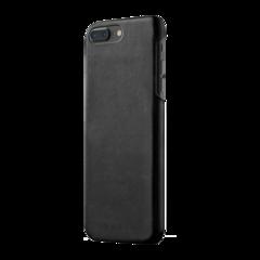 Funda de cuero para iPhone 7 Plus Mujjo Negro