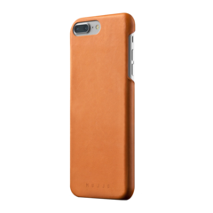 Funda de cuero para iPhone 7 Plus Mujjo Castaño