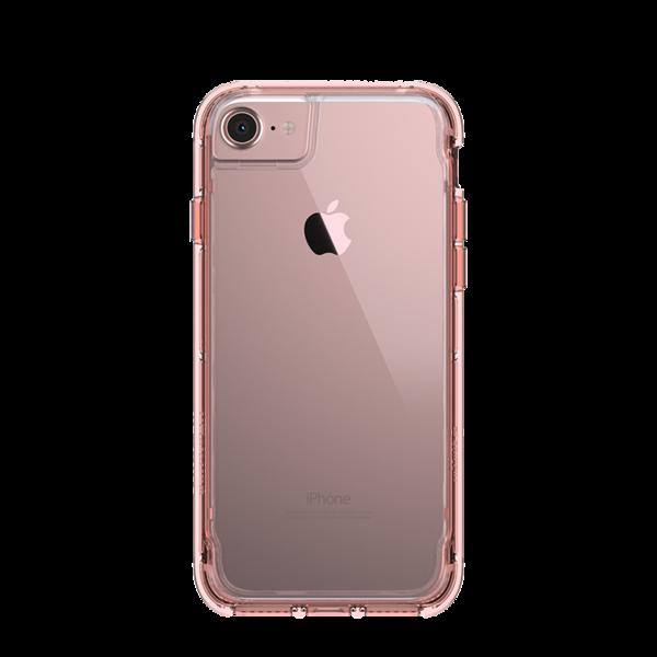 Funda dura Survivor Clear para iPhone 7 Griffin Rosa