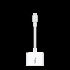 Adaptador de audio y carga Lightning Belkin RockStar