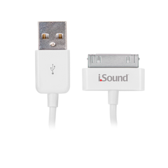 Cable 30-pines a USB iSound Blanco
